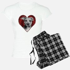 Pit Bull Terrier Valentine Pajamas