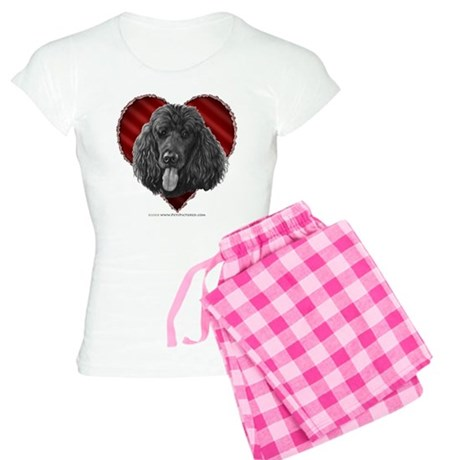 Black Poodle Valentine Women's Light Pajamas