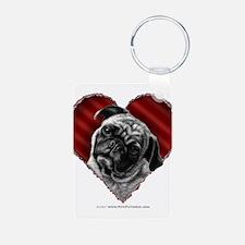 Pug Valentine Keychains