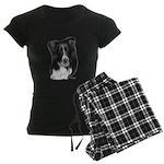Border Collie Malcolm Women's Dark Pajamas