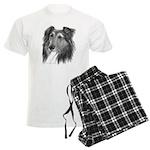 Shetland Sheepdog (Sheltie) Men's Light Pajamas