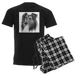 Shetland Sheepdog (Sheltie) Men's Dark Pajamas
