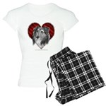 Sheltie Heart Women's Light Pajamas