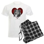Sheltie Heart Men's Light Pajamas