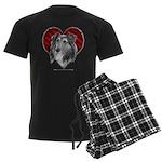 Sheltie Heart Men's Dark Pajamas