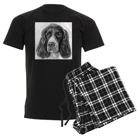 English Springer Spaniel Men's Dark Pajamas