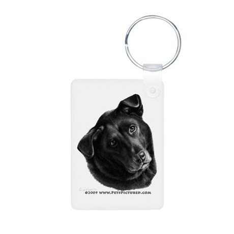 Corvis, Black Lab Mix Aluminum Photo Keychain