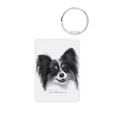 Papillon Aluminum Photo Keychain