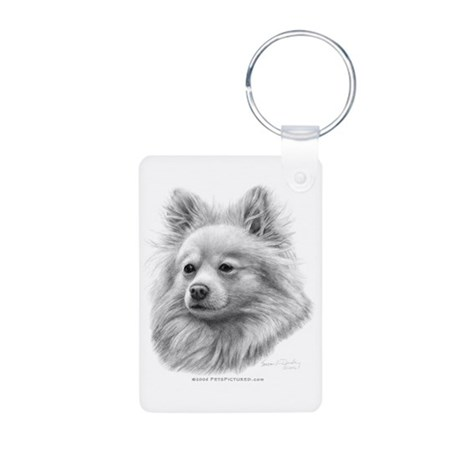 Pomeranian Aluminum Photo Keychain