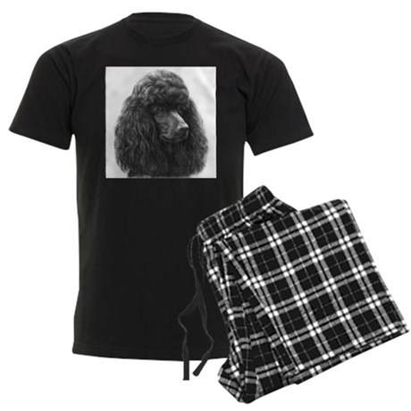 Black or Chocolate Poodle Men's Dark Pajamas
