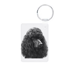 Black or Chocolate Poodle Keychains