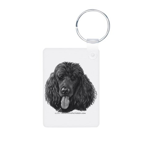Shadow, Standard Poodle Aluminum Photo Keychain