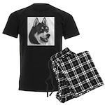 Siberian Husky Men's Dark Pajamas