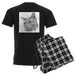 Burmese Cat Men's Dark Pajamas