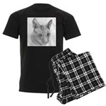 Cornish Rex Cat Men's Dark Pajamas
