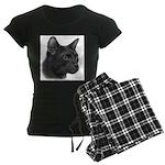 Havana Brown Cat Women's Dark Pajamas