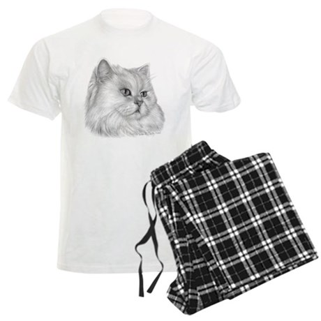 Persian Cat Men's Light Pajamas