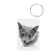 Russian Blue Cat Keychains