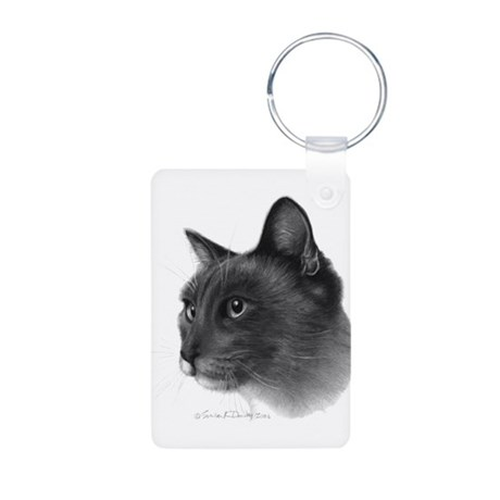 Siamese Cat Aluminum Photo Keychain