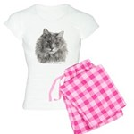 TG, Long-Haired Gray Cat Women's Light Pajamas