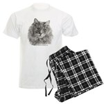 TG, Long-Haired Gray Cat Men's Light Pajamas