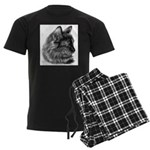Tortoise Long-Hair Cat Men's Dark Pajamas