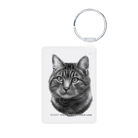 Tiger Cat Aluminum Photo Keychain