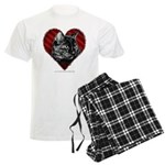 Kitty Heart Men's Light Pajamas