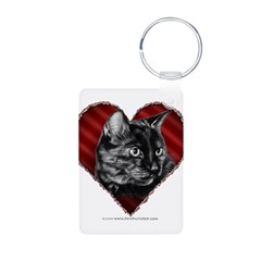 Kitty Heart Keychains