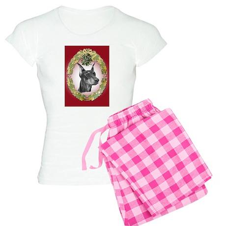 Doberman Pinscher Christmas Women's Light Pajamas