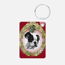 Ffrench Bulldog Mistletoe Keychains