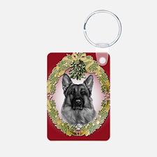 German Shepherd K9 Christmas Keychains