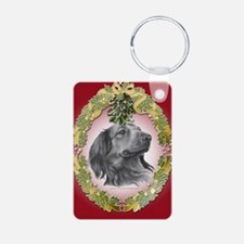 Long-Haired Dachshund Christm Keychains