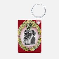 Schnauzer Christmas Keychains