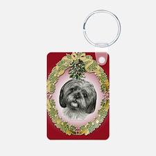 Shih Tzu Christmas Keychains