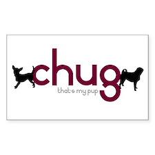 Chihuahua/Pug Rectangle Decal