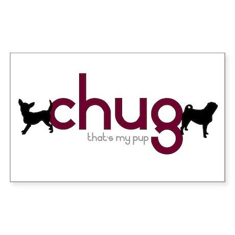 Chihuahua/Pug Rectangle Sticker