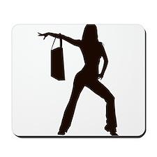 shop girl Mousepad