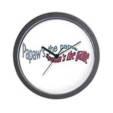 PAPAW,S THE NAME Wall Clock