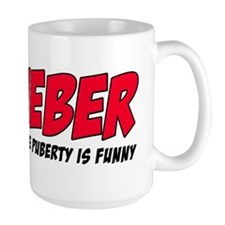 Bieber Because Puberty is Funny Mug