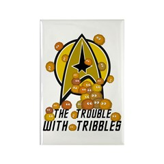 Trouble With Tribbles Rectangle Magnet (10 pack)