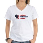 Pro Family Women's V-Neck T-Shirt
