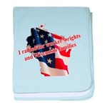 WI Familes & Workers Rights D baby blanket