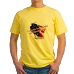 WI Familes & Workers Rights D Yellow T-Shirt
