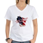 WI Familes & Workers Rights D Women's V-Neck T-Shi