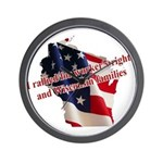 WI Familes & Workers Rights D Wall Clock