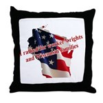 WI Familes & Workers Rights D Throw Pillow