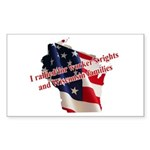 WI Familes & Workers Rights D Sticker (Rectangle)