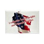 WI Familes & Workers Rights D Rectangle Magnet (10