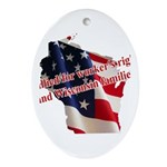 WI Familes & Workers Rights D Ornament (Oval)